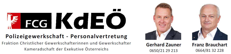 Logo Polizeigewerkschaft mit Zauner und Brauchart